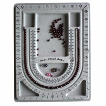 Beads Pearl Design Board Necklace Pendant Jewellery Tray Organize Plate