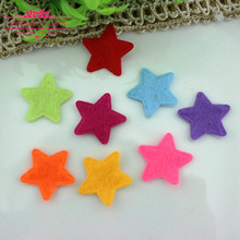 500pcs Cute Assorted Colors Felt Fabric STAR Appliques Non Woven Fabric Patches Mini Star Scrapbooking,Sewing Appliques,Patches