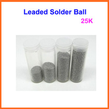 Free ship 25K (0.25, 0.3, 0.35, 0.4, 0.45, 0.5, 0.55, 0.6, 0.65, 0.76) Leaded BGA Reballing Solder Balls