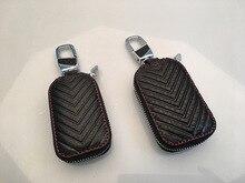Genuine Cow Leather Men & Women Homehold Key Bag Car Key Bag Wallet Multi Function Key Case Fashion Housekeeper Holders