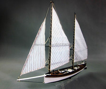 "NIDALE Model Hobby sailboat wooden Model kit: Sacle 1/24 ""Sharpie"" 1870 Ship Model"