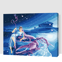 Jax-GX7441 Cancer Frameless 16x20inch Pictures Painting By Numbers DIY Digital Oil Painting On Canvas Home Decoration 40x50cm(China)