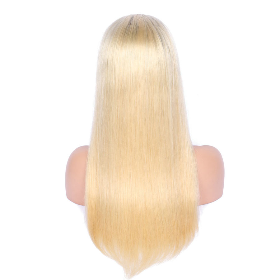 BEEOS #1bT#613 Glue Full Lace Wig With Baby Hair Pre Plucked Remy Ombre Blonde Human Hair Wigs Bleached Knots Average Cap (10)