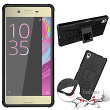 For Sony Xperia X Performance XA X Case 5.0inch Hybrid Kickstand Dazzle Armor Hard PC+TPU Shockproof With Stand Function Cover(China)