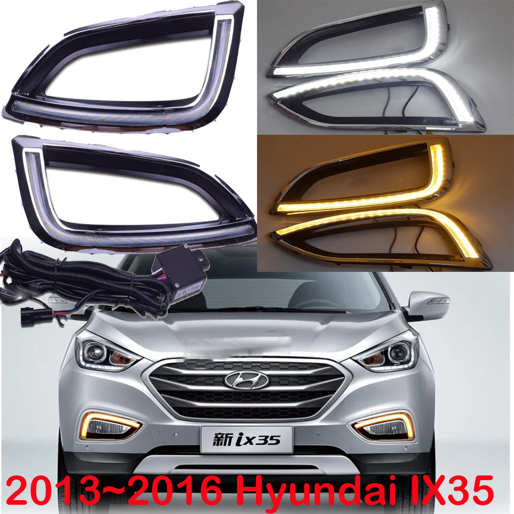 Car-styling,IX35 daytime light,2010~2016,chrome,LED,Free ship!2pcs,car-detector,IX35 fog light,car-covers,Tucson,IX25,IX 35<br>