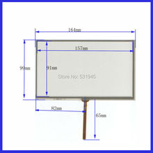 7inch 4-wire resistive Touch Panel   164*99compatible Navigator TOUCH SCREEN  164mm*99mm GLASS on  LCD display and GPS