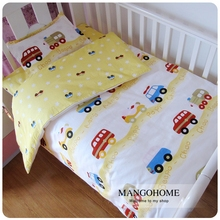 22 Styles Boy bedding set Baby Bedding Set 3pcs/set Cotton Crib Bedding Set For Boys Newborn for 120*60cm 130*70cm bed(China)