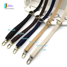 Colourful Bronze Metal Buckle Hook Cotton Knitting Adjustable Shoulder Strap DIY Handmade Messenger Bag Accessories Strap S0168N