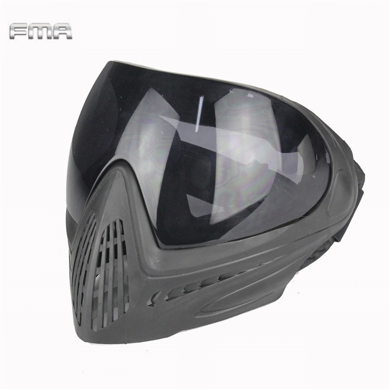FMA F1 Tactical Anti-fog Safety Goggle Full Face Mask Airsoft Paintball Shock Resistance Protective Eyewear Mask Accessory<br>