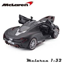 1/32 Scale Diecast Car Model Toys Black McLaren P1 Sports Car Model With Light & Sound Model For Children Gifts Collections
