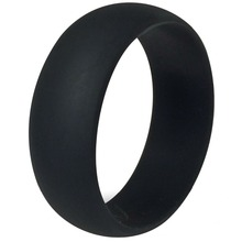 Size 5-15 8MM Black Flexible Hypoallergenic Crossfit Silicone Rubber Ring Wedding Engagement Cocktail Army Fishing Sports Band(China)