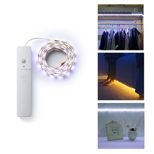 Night Lamp LED Strip IR Infrared Motion Detector Sensor 60 LED Night Light Closet Cabinet Light Lamp PIR Wireless Operated Light