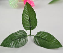 simulation branch leaf and stem Artificial leaves for DIY silk flower Garland Decor 20pcs(China)