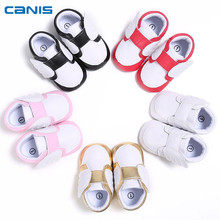 2018 Brand New Newborn Toddler Infant Baby Boy Girl Bow Anti-slip Leather Crib Shoes Soft Sole Angel Wings Prewalker Shoes(China)