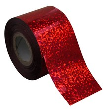 Glitter Red Color Plastic Nail Transfer Foil Fingernails Decal 120m*4cm Nail Art Sticker DIY Accessories Suppliers WY273(China)
