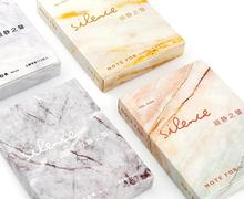 Note for silence marble pattern mini tear-off notepads memo pad 112 sheet 6.5*9cm white gray yellow pink retail
