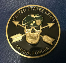 ARMY SPECIAL FORCES COLOR GREEN BERET CHALLENGE COIN,20PCS/LOT free shipping