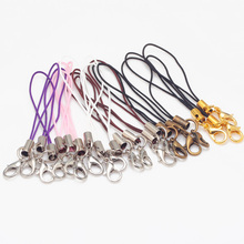 Seven Colors Rope Lobster Clasps For Cell Phone Lanyard Cords Strap Jewelry Findings 100pcs/lot 67mm 7906