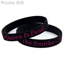 Promo Gift 1PC The Smiths Band Wristband - The Queen is Dead Silicone Bracelet for Music Fans(China)