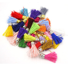 Mix Color Satin Silk Tassel 40mm Tassels For Jewelry Diy Cell Earring Necklace Charms Mobile Phone Straps Accessories 100cs/lot(China)