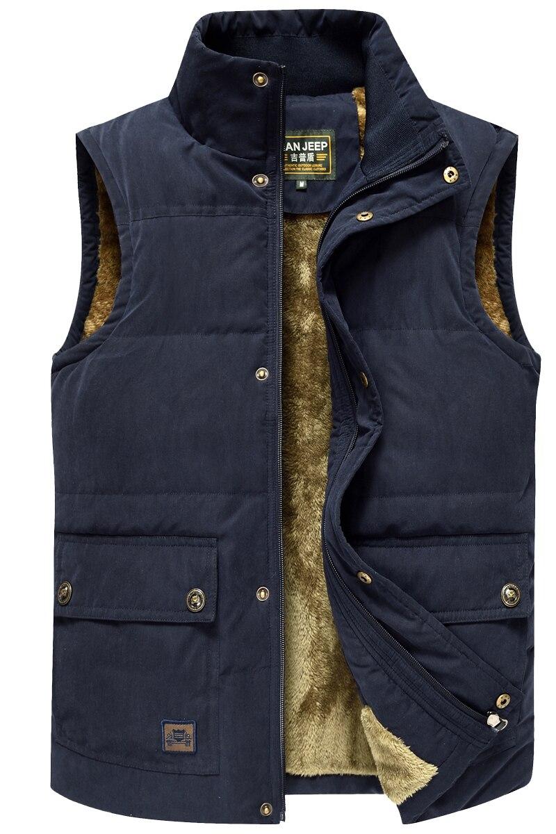 Winter Trekking Hiking Vest Men Jacket Sleeveless Coat Men Warm Jacket