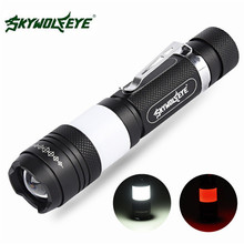 Sky Wolf Eye 5000LM G700 X800 Tactical Zoomable XML T6 LED Military Flashlight Torch Light Lamp C3(China)