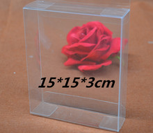 Qi Size:15*15*3cm 10pcs/lot Plastic Craft Packaging Clear Box Square Size Display Box Transparent Gift Packing Jewelry Boxes