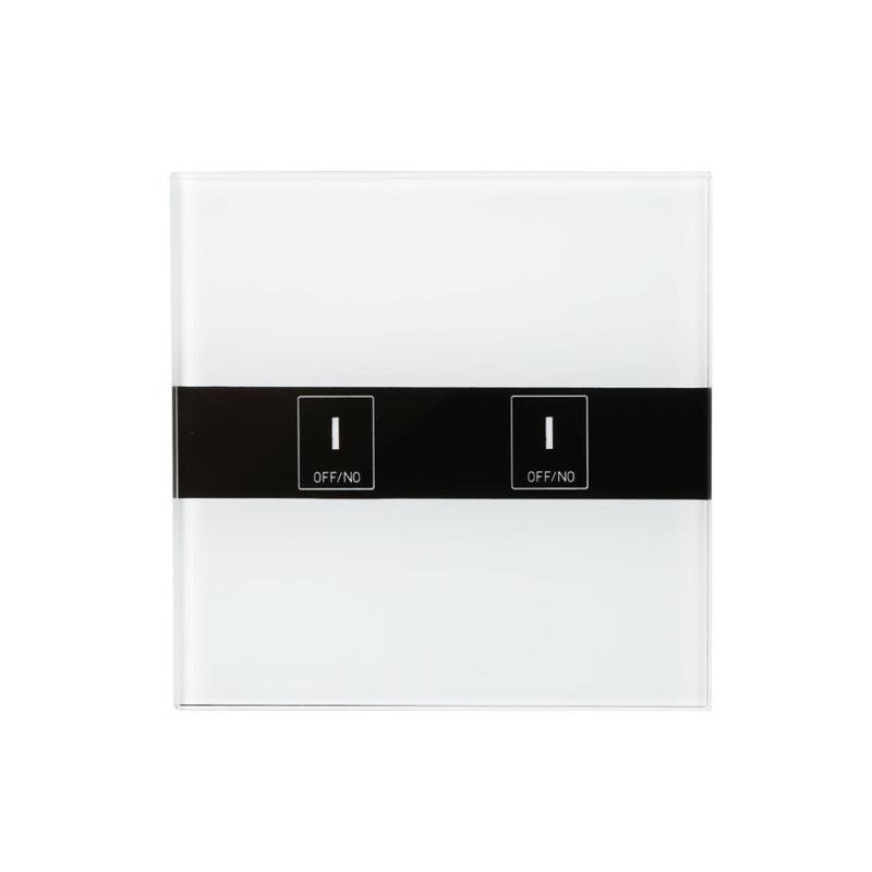2.4G WiFi Smart Light Switch 2-CH Wall Switch APP Remote Control Switch Moisture-Proof Kitchen Bathroom Touch Panel EU Plug<br>