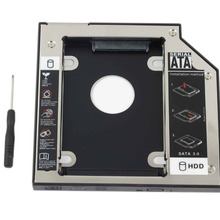 WZSM NOVO 12.7mm SATA 2nd HDD SSD Caddy para Lenovo IdeaPad G575 G460 G560 Caddy Unidade de Disco Rígido