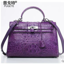 pugete crocodile kelly women handbag handmade custom women bag  classic European and American leather brand fashion handbag