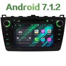 "8"" Android 7.1.2 Quad Core 2GB RAM 16GB ROM Car DVD Stereo radio player for Mazda 6 Ultra Ruiyi 2008-2012 Support Bose system(China)"