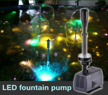 changing LED submersible water pump fountain pump fountain maker 40w 2000L/h for fish pond garden pool(China)
