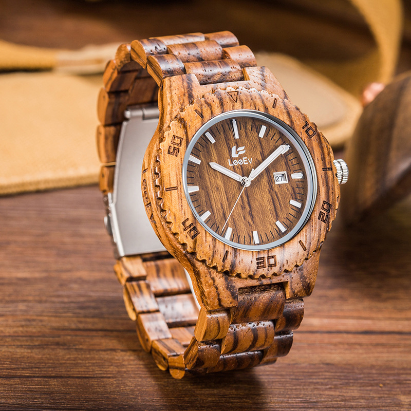 Top Brand Designer Mens Wood Watches Fashion Casual Wooden Luxury Watch Wood Quartz-Watch Wristwatch Relogio Feminino Relojes<br>