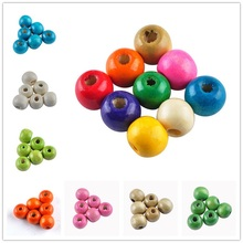 8MM 100pcs/lots Cheap DIY/Handmade Round Wood Ball Spacer Bead for for Jewelry Making Bracelet Necklace Accessories Wholesale