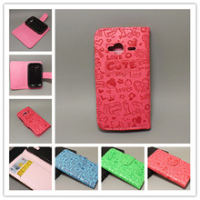 Magic Girl Cute Leather CaseCove with Holder Credit Card For HTC G13 Wildfire S A510E free shipping
