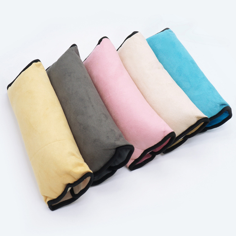 Seat Belt Cover Shoulder Plush Pad Gray 2 Pcs Safety Seat Harness Cover Strap Wrap Pads Soft Comfortable Cushion Durable & Adjustable