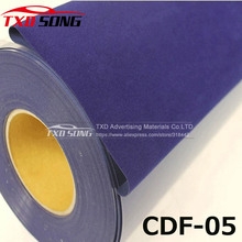 High quality Dark blue CDF-05 Flock heat transfer vinyl for clothes, fabric flock transfer PU with free shipping 0.5X1M/lot