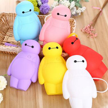 Silicone Big Hero 6 Baymax Kawaii Pencil Cases Multi-functional Stationery Pen Bags Storage Pencils Box girl School Supplies bag(China)