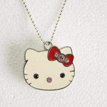 Jewelry Cle USB Flash Drive 64GB 128GB Diamond KT Cat Pendrive 512GB Necklace Disk On Key Memory Stick Gift Pen Drive 32GB 2.0(China)