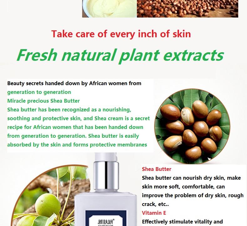 YaFuYan Shea butter Body Lotion men and women Lasting Moisturizing & nourishing Replenishment Light incense washing product 9