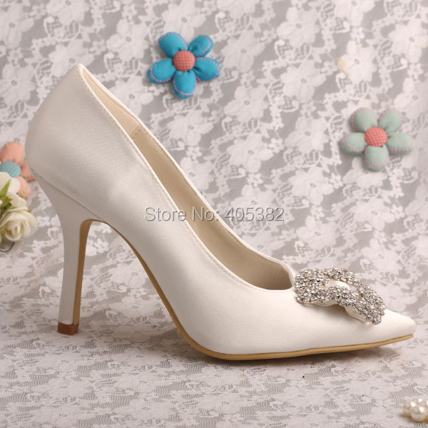 Wedopus W353 Brand Name Elegant Women Shoes Wedding Beige Pointed Toe Pumps <br>
