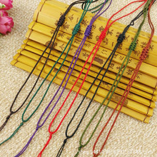 High quality 10pcs/Lot Adjustable 2mm Colorful New Rope Necklace Lanyard Fashion Gifts Cord Jewelry Cord Pendant Cords