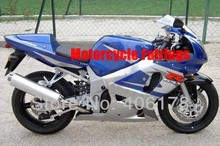 Hot Sales,gsxr 750 600 01 02 03 fairing For Suzuki GSX-R 600 750 2001-2003 Blue and Silver kit for sale (Injection molding)(China)