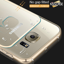 KISSCASE For Galaxy S6 Metal Case Crystal Clear Hard Case For Samsung Galaxy S6 S6 Edge S6 Edge Plus Aluminum Frame Slim Cover