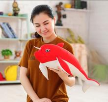 1pcs 60cm Creative Dolls Movie Fish And Begonia Dolphin Soft Plush Toys Doll Pillow Foam Particles