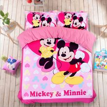 pink mickey and minnie mouse bedding sets for girls home decor twin full queen king size bedspread bed linen duvet covers sheets