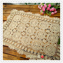 2016 new fashion cotton crochet lace table cloth table cover sofa towel overlay for home decor cabinet cover  table runner