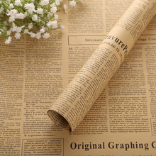 10pcs Newspaper Wrap Paper Double Sided Party Gift Flower Wrap Decor Kraft Paper Event Party Supplies(China)