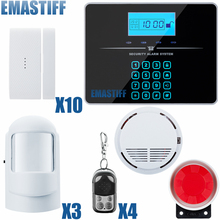 Buy Touch Keypad Wireless wired GSM PSTN Quad4 Band SMS Home Security Voice Burglar Alarm System Auto Dial for $74.58 in AliExpress store