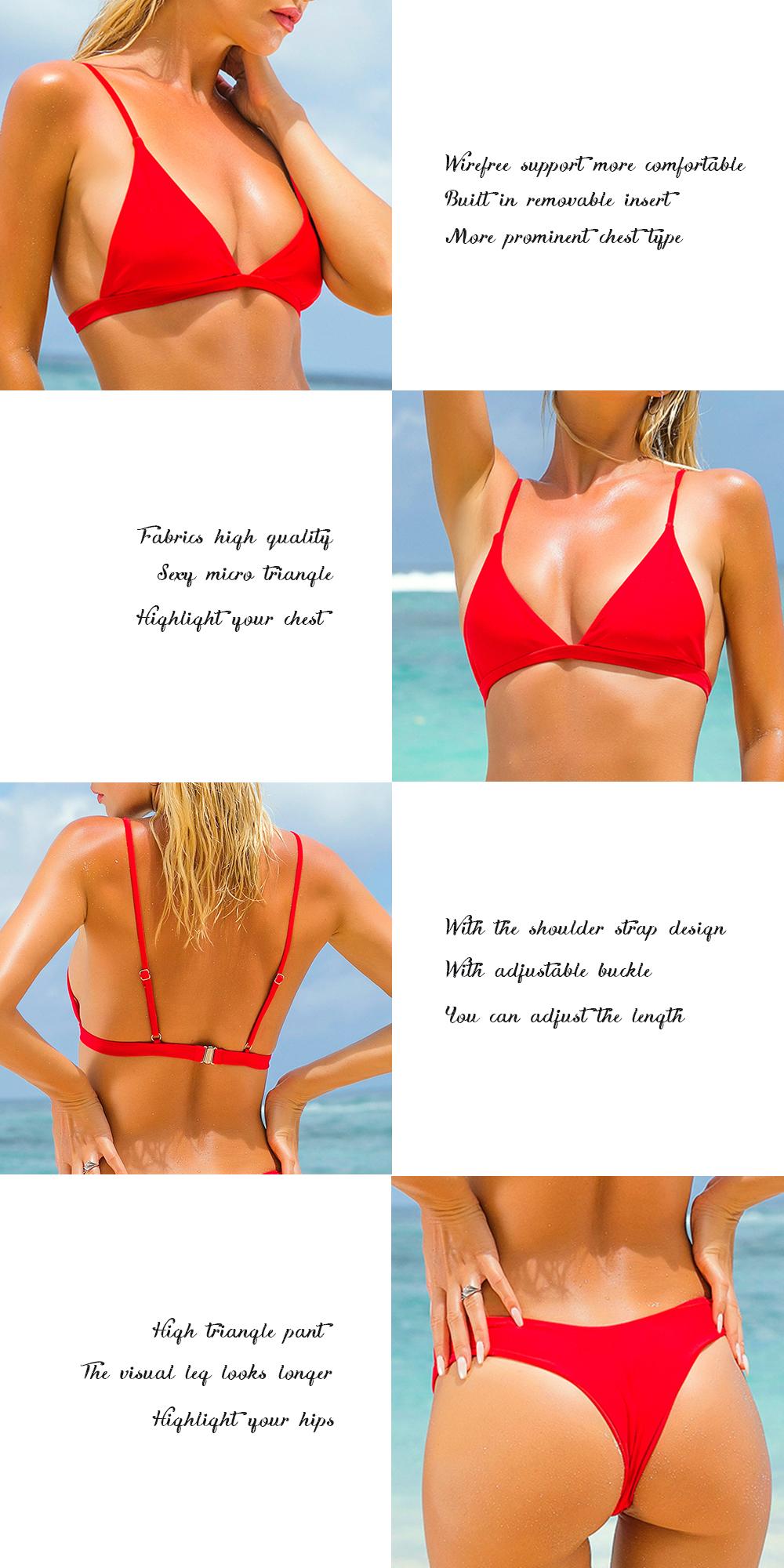 OMKAGI Brand Swimwear Women Swimsuit Sexy Push Up Micro Bikinis Set Swimming Bathing Suit Beachwear Summer Brazilian Bikini 2019 12